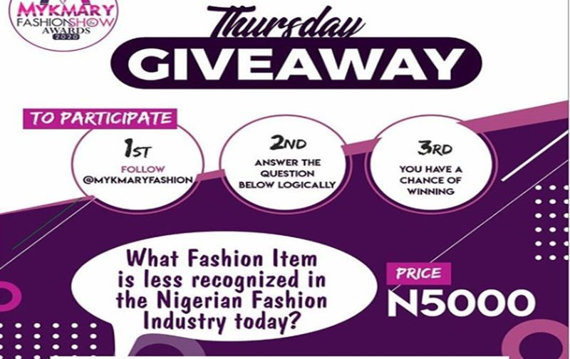 What fashion item is less recognized in the Nigerian Fashion Industry?