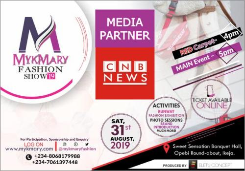 Mykmary Fashion Show 2019 Media Partner CNB NEWS