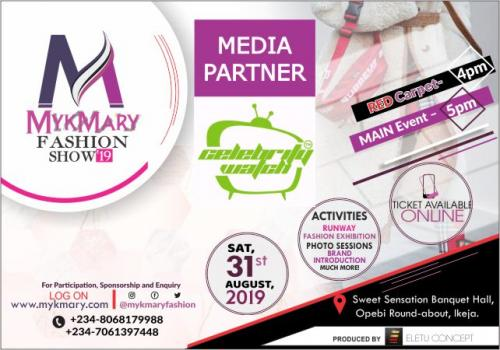 Mykmary Fashion Show 2019 Media Partner Celebrity Watch
