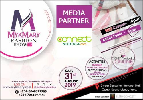 Mykmary Fashion Show 2019 Media Partner Connect Nigeria