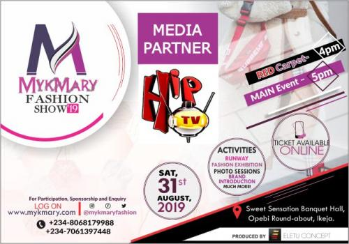 Mykmary Fashion Show 2019 Media Partner HIPTV