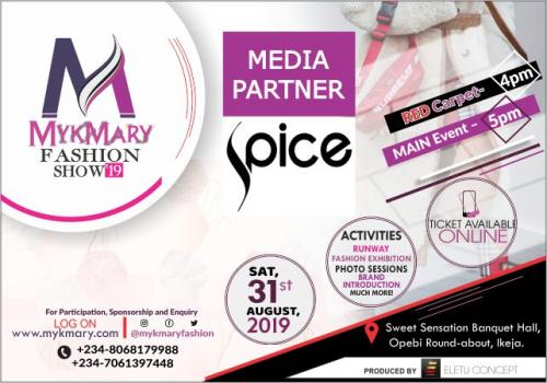 Mykmary Fashion Show 2019 Media Partner SPICE TV