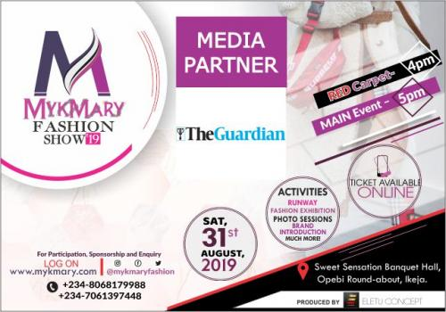 Mykmary Fashion Show 2019 Media Partner The Guardian