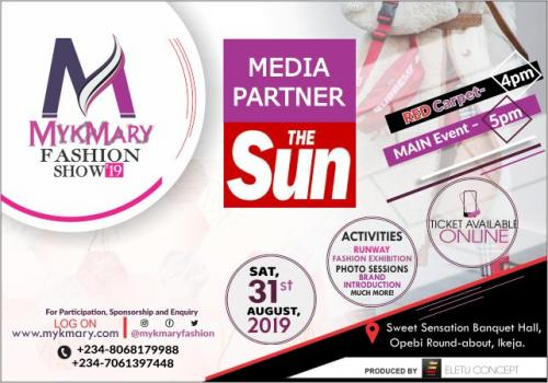 Mykmary Fashion Show 2019 Media Partner The SUN